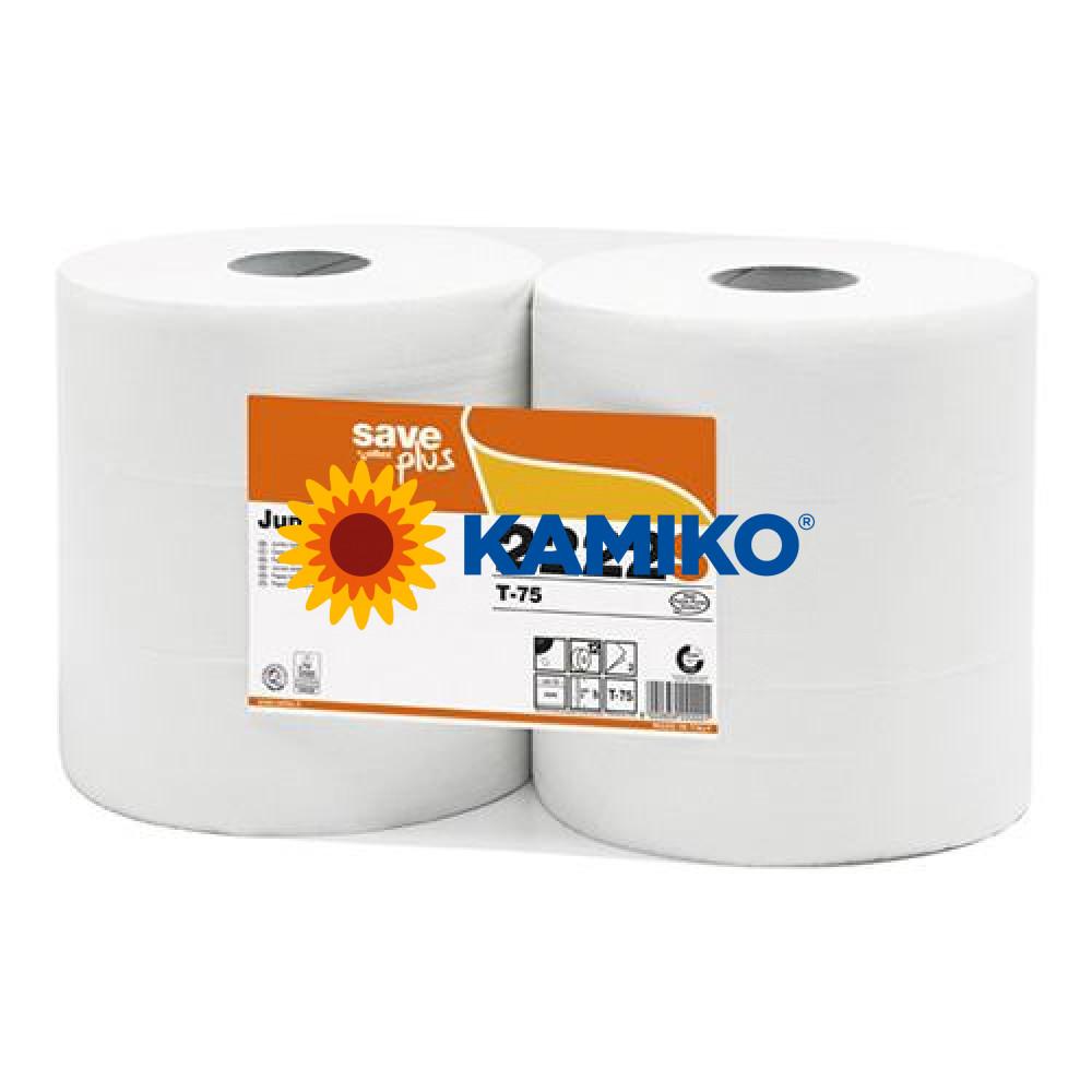 Toaletný papier 2vr Jumbo SAVE LONG 26 cm, biely