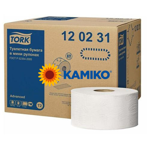 Toaletný papier 2vr Jumbo TORK 19 cm, biely, advanced