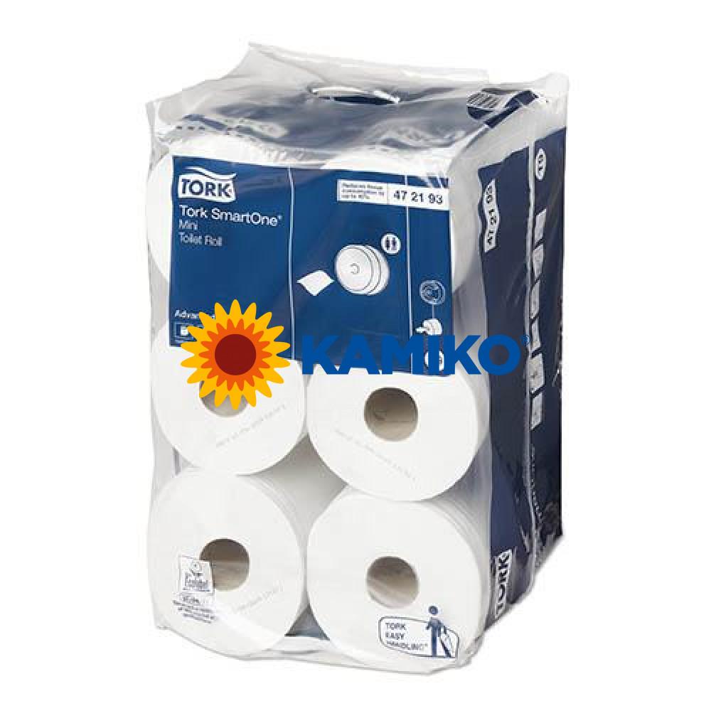Toaletný papier 2vr TORK SMART ONE mini 111m, biely