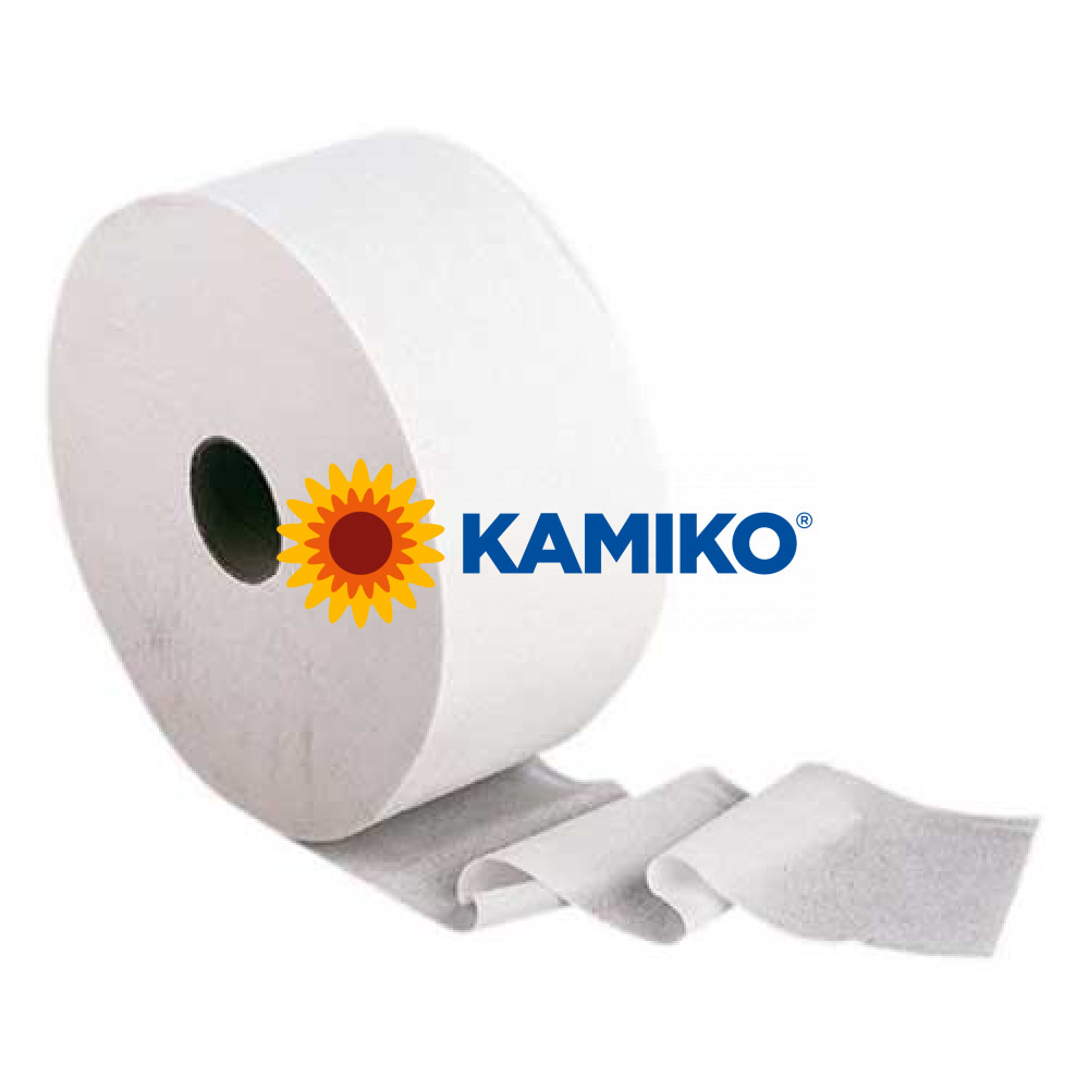 Toaletný papier 2vr Jumbo KAMIKO EKO 26 cm, biely