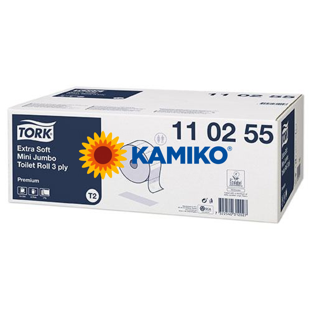 Toaletný papier 3vr Jumbo TORK 19 cm, biely, extra premium