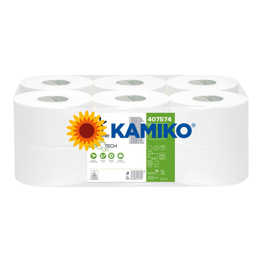 Toaletný papier 2vr Jumbo BIOTECH PAPERNET 19 cm, biela, celulóza