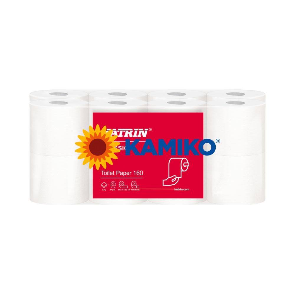 Toaletný papier 3vr KATRIN Plus 18m, biely