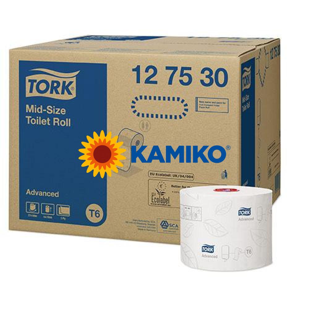Toaletný papier 2vr TORK T6 Mid-size advanced 100m, biela celulóza