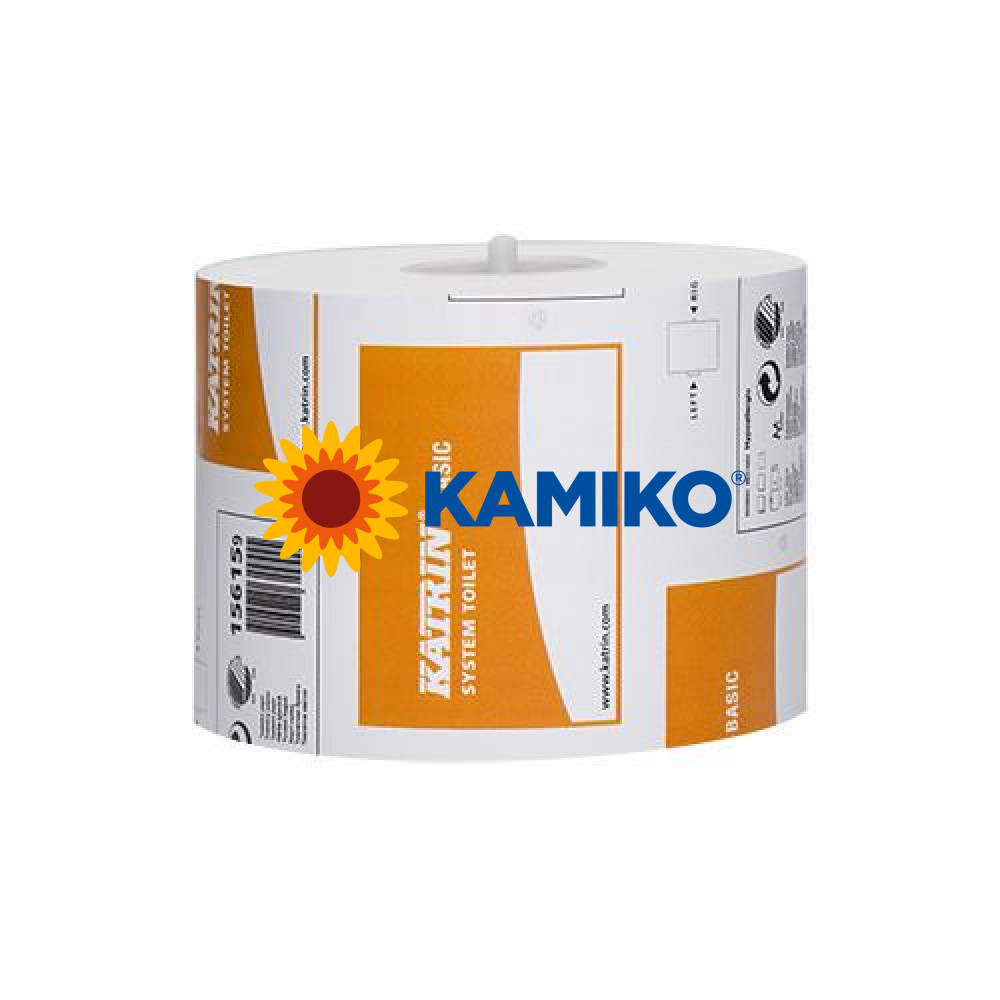 Toaletný papier 1vr KATRIN SYSTEM Basic 115m, biely