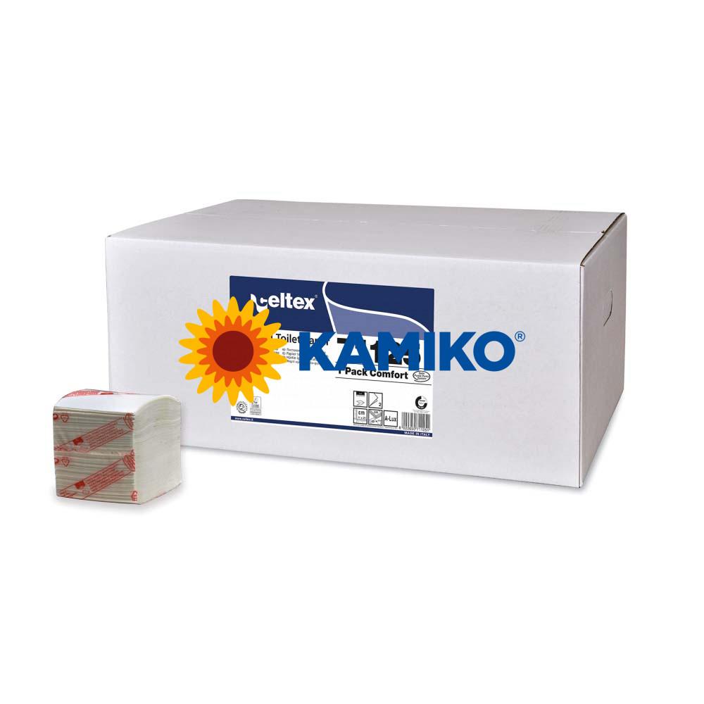 Toaletný papier skladaný 2vr. CELTEX T-Pack 9 000 ks
