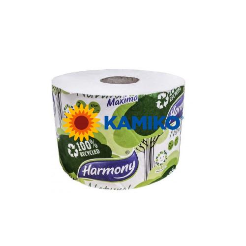 Toaletný papier 2vr HARMONY MAXIMA 69m, biely