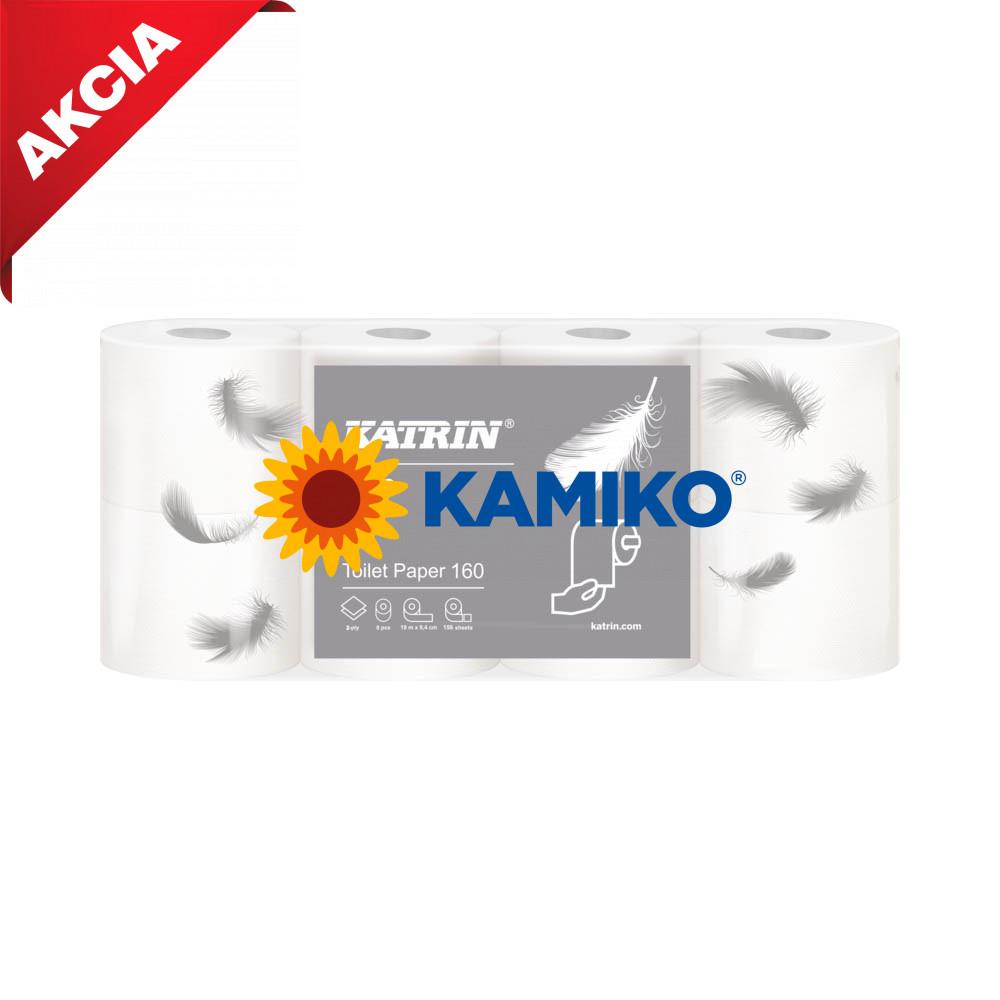 Toaletný papier 2vr KATRIN 18m, biela celulóza