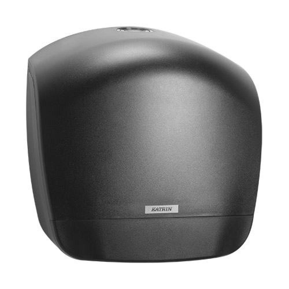 Zásobník toaletného papiera KATRIN Jumbo 26 cm, čierny