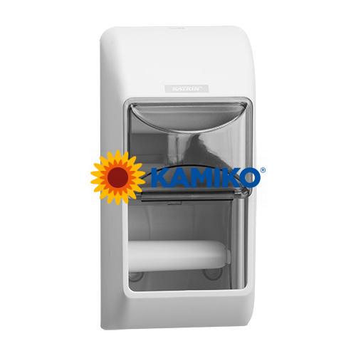 Zásobník toaletného papiera KATRIN 2 roll,biely