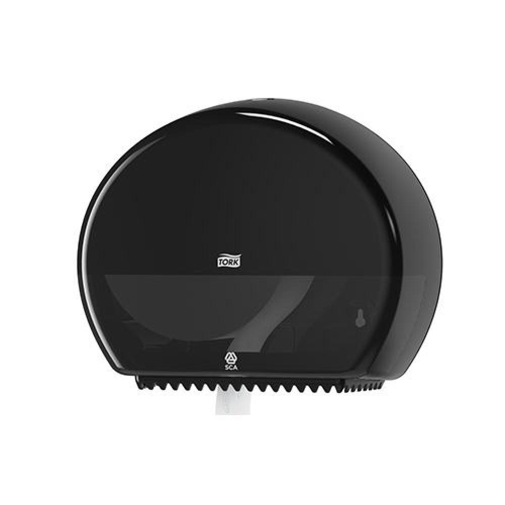 Zásobník toaletného papiera TORK Jumbo 19 cm, čierny