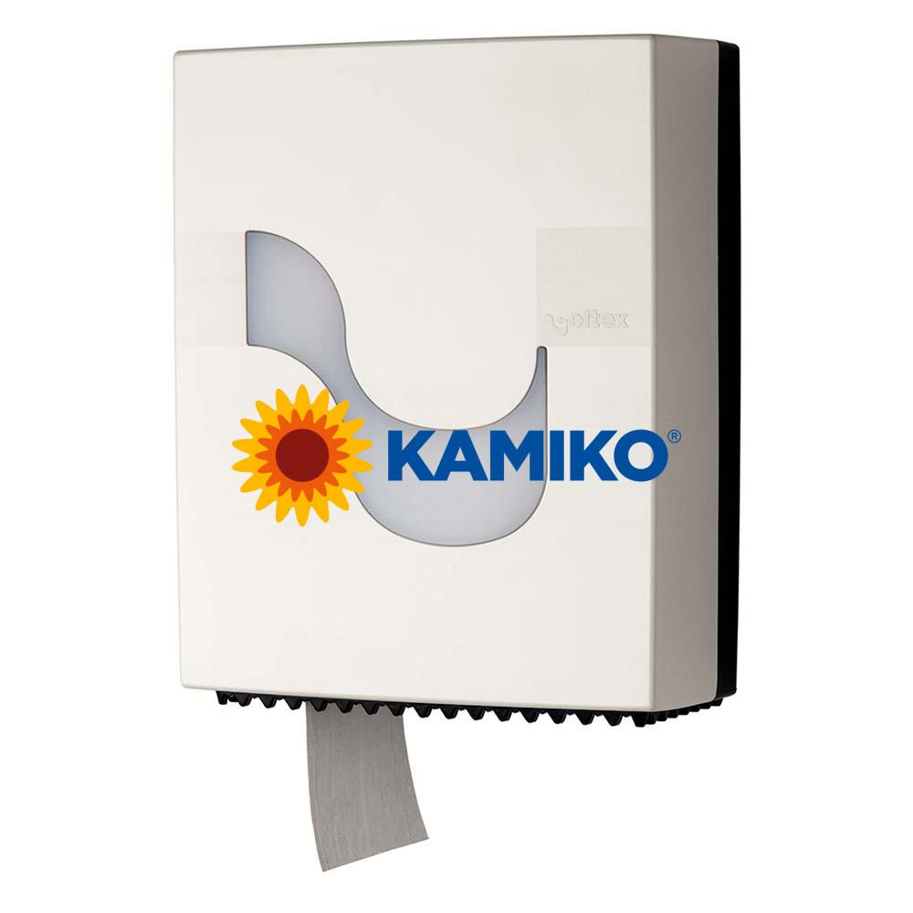 Zásobník toaletného papiera CELTEX Jumbo 19 cm, biely