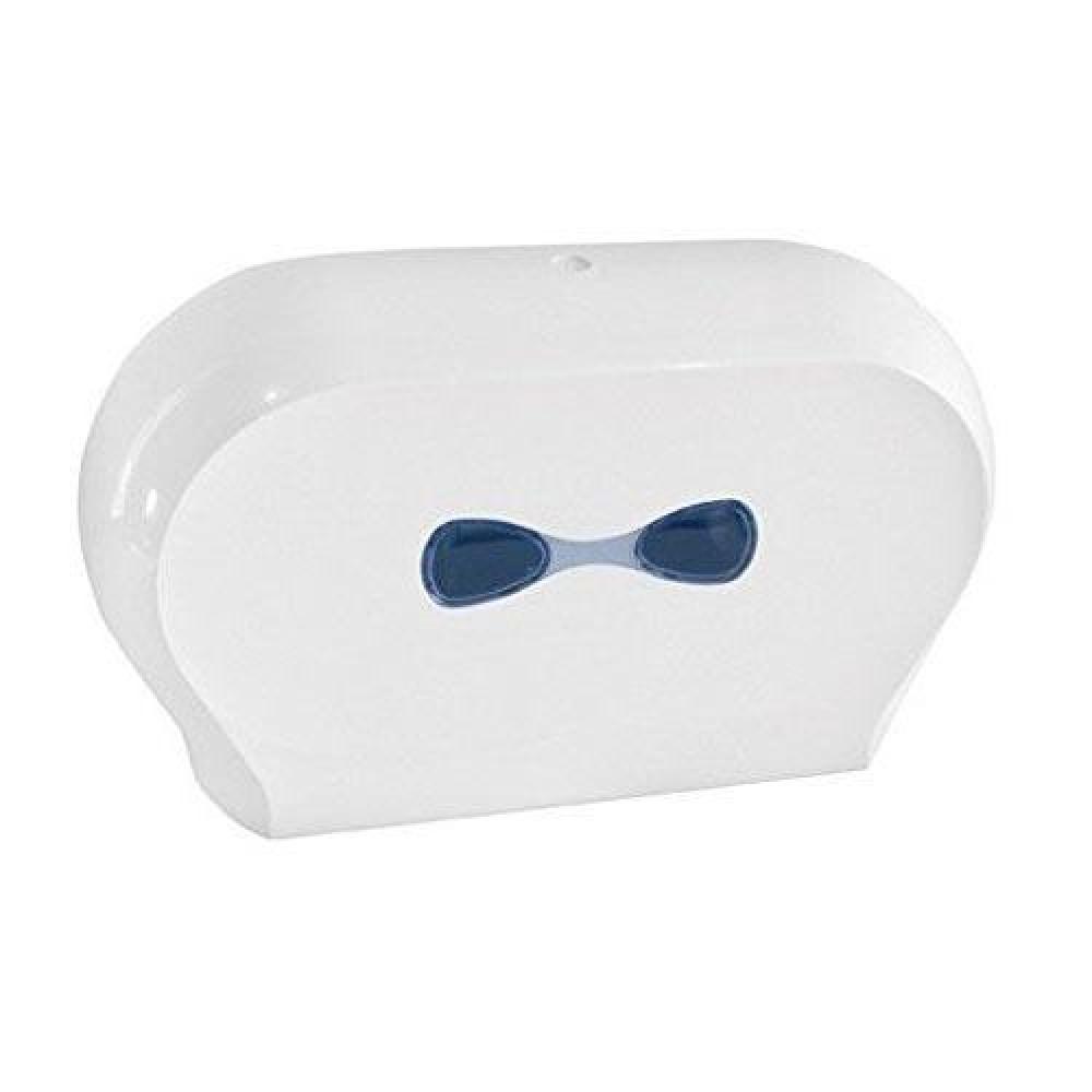 Zásobník toaletného papier DUO Jumbo 19 cm, biely