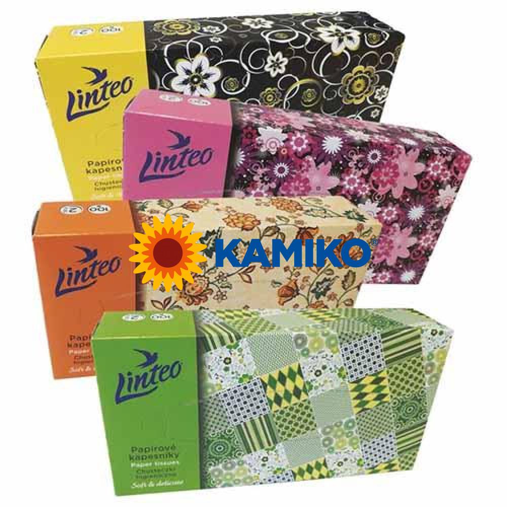 LINTEO BOX papierové vreckovky 100 ks