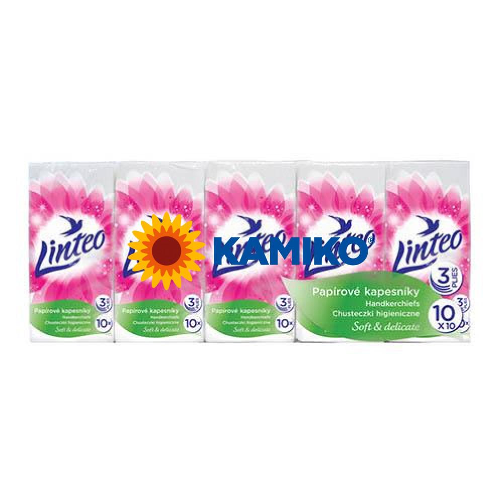 LINTEO Satin papierové vreckovky 10 x 10 ks