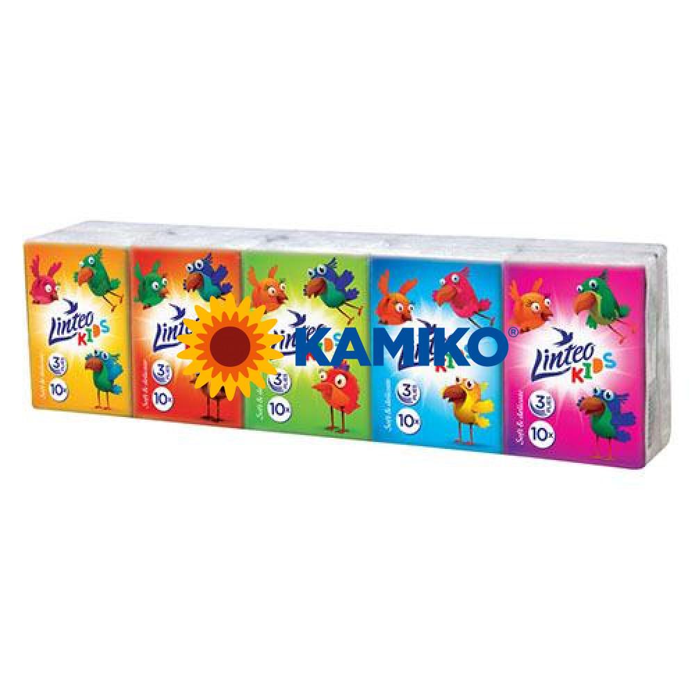 LINTEO KIDS Mini papierové vreckovky 10 x 10 ks