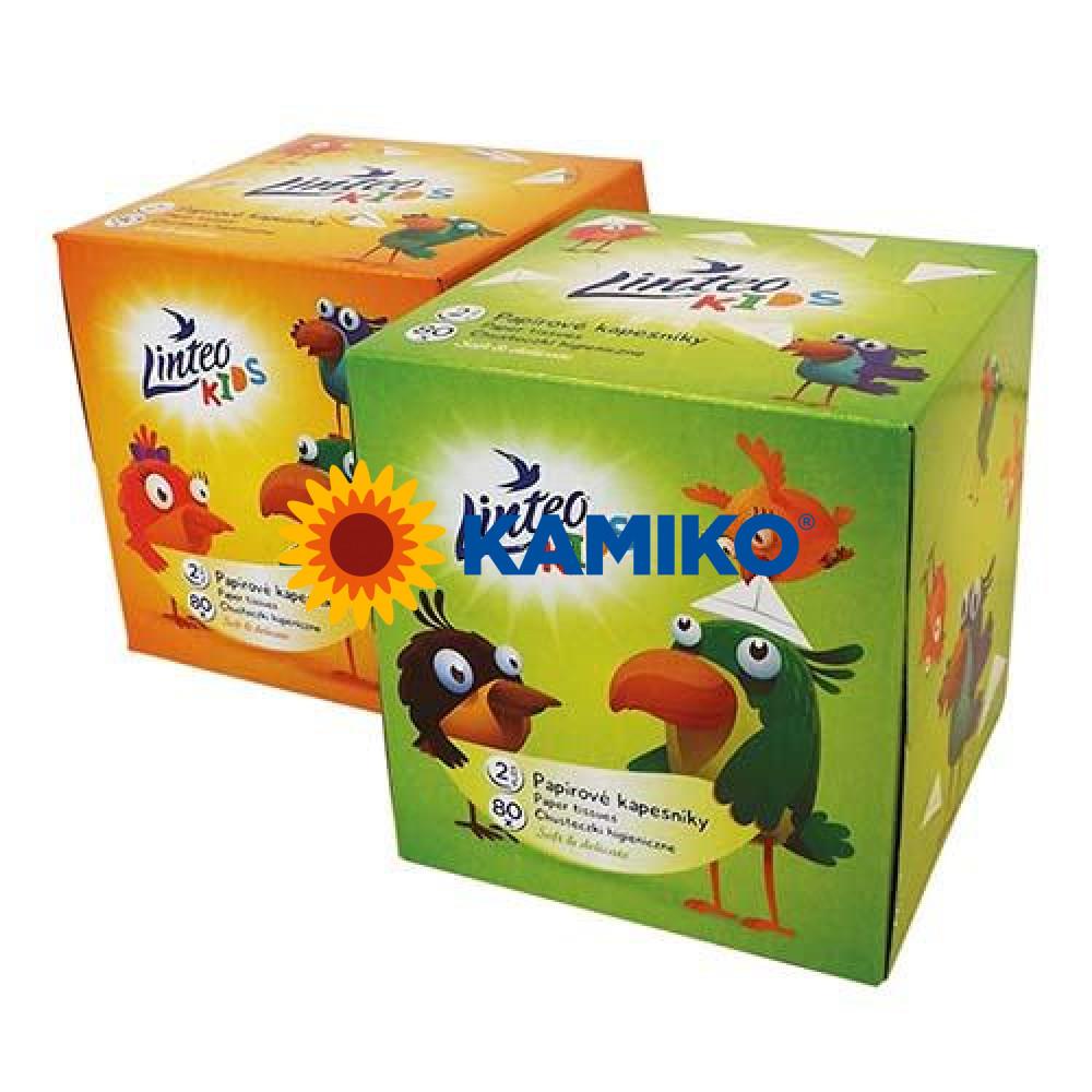 LINTEO KIDS Box papierové vreckovky 80 ks