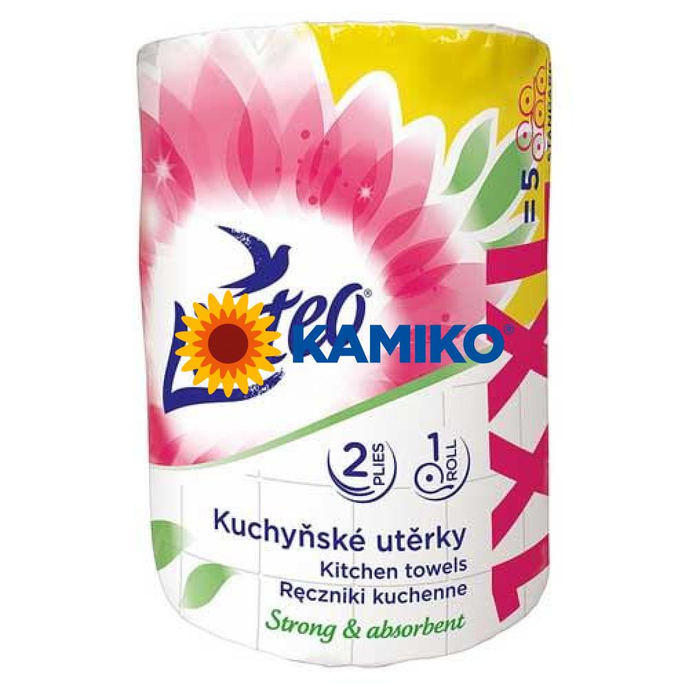 Kuchynské utierky Linteo XXL, 1 kotúč, biele, dvojvrstvové