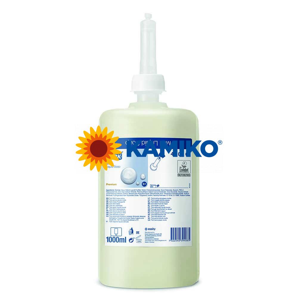 Mydlo tekuté TORK 1 000 ml, jemné, patróna krémová