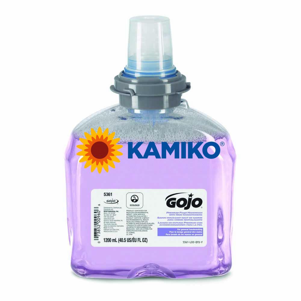 Mydlová pena GOJO TFX 1 200ml,  s kondicionérom, fialová patróna