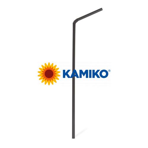 Slamky flexibilné 24 cm, pr. 5 mm, čierne, BIO plast