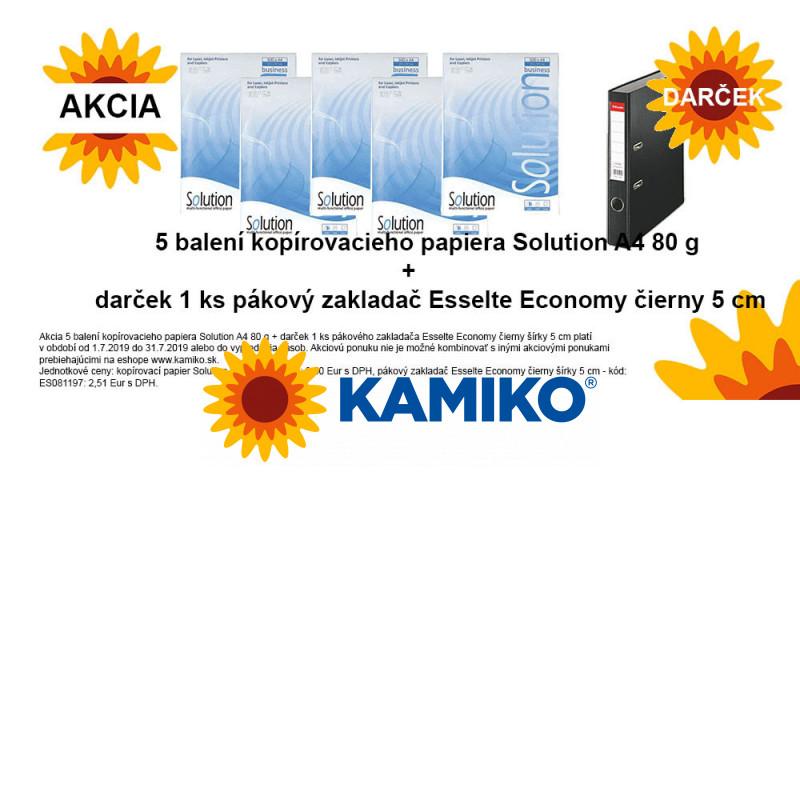 Kopírovací papier 80g A4 R Copy Solution 5 balení + darček pákový základač Esselte Economy 5 cm čierny