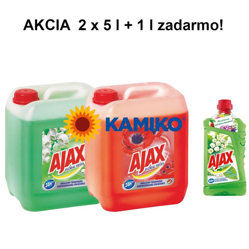 AKICA 2 x Ajax Floral Fiesta 5 l  + Ajax Floral Fiesta 1 l ako darček