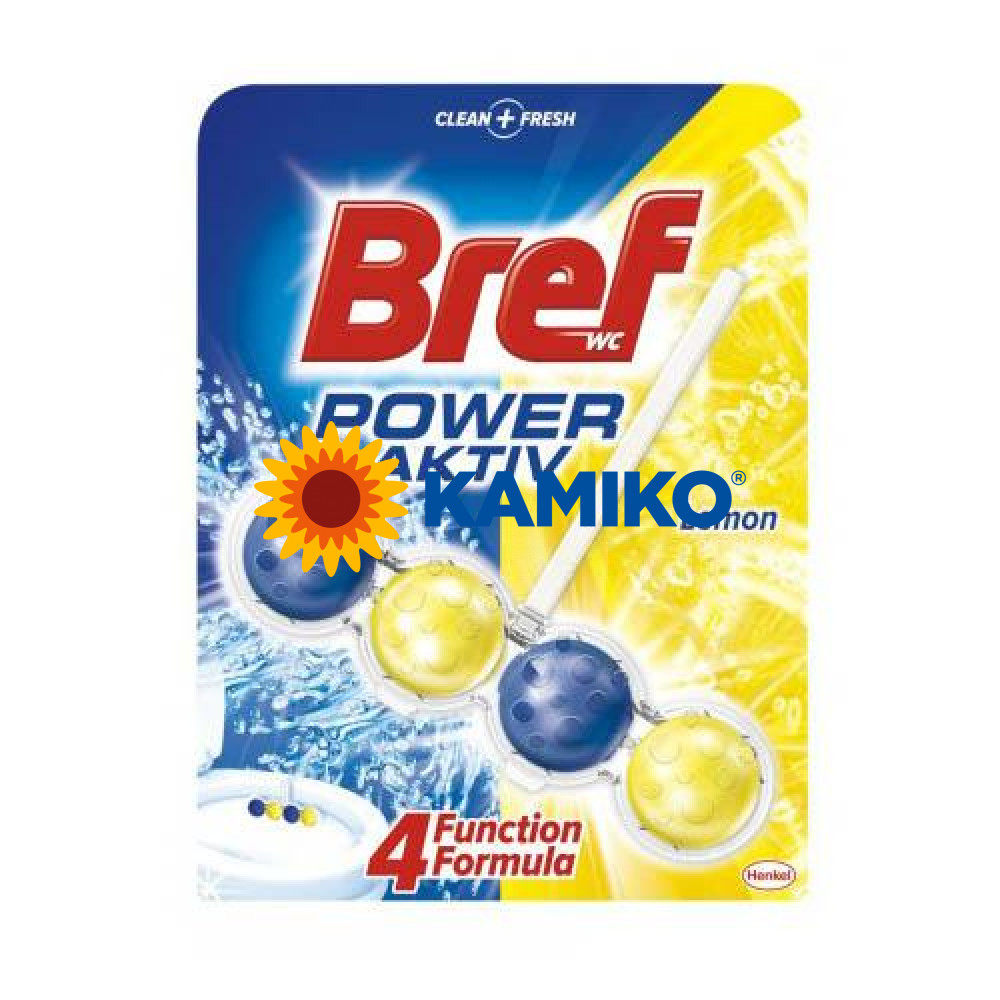 Záves WC Bref Power Aktiv LEMON, 50g