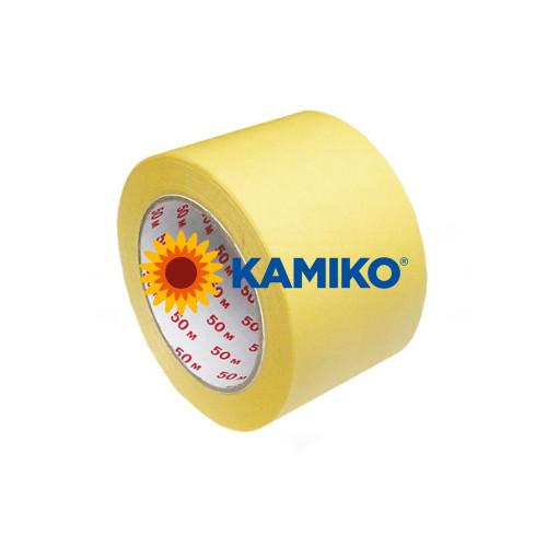 Maskovacia krepová páska 50 mm x 50 m žltá