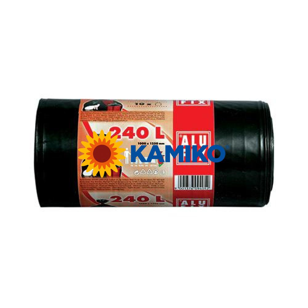 Vrece HDPE 100 x 125cm, 240 l,čierne