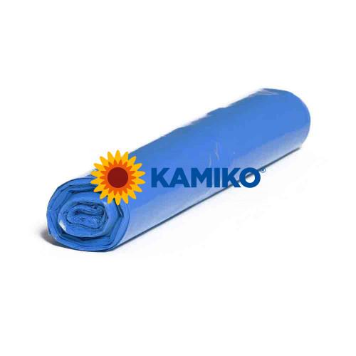 Plastové vrecia PE 75 x 100 cm, 70 l, typ 40, modré