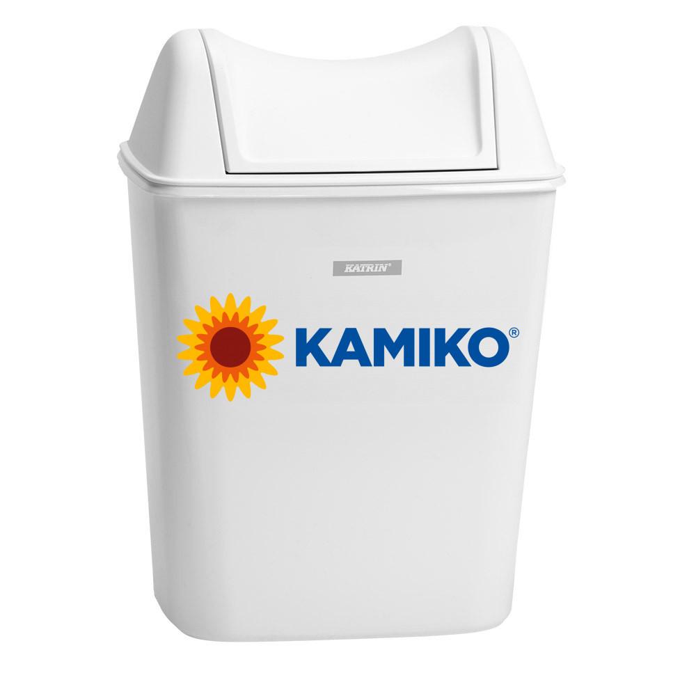 Odpadkový kôš KATRIN 8 l s poklopom, biely