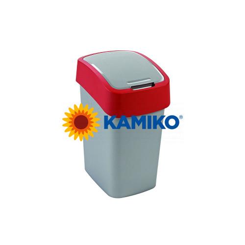 Odpadkový kôš CURVER Flipbin 50 l strieborná/červená