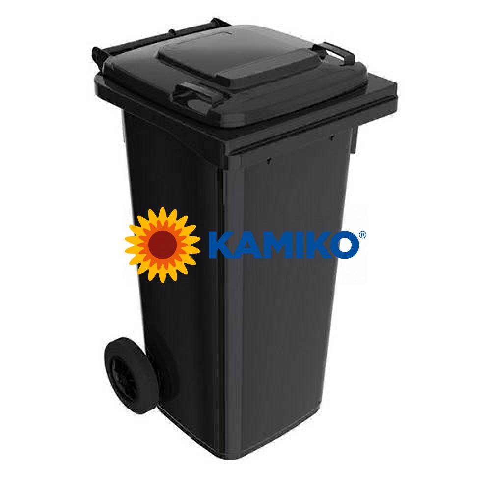 Plastová nádoba na odpad 120 l, čierna