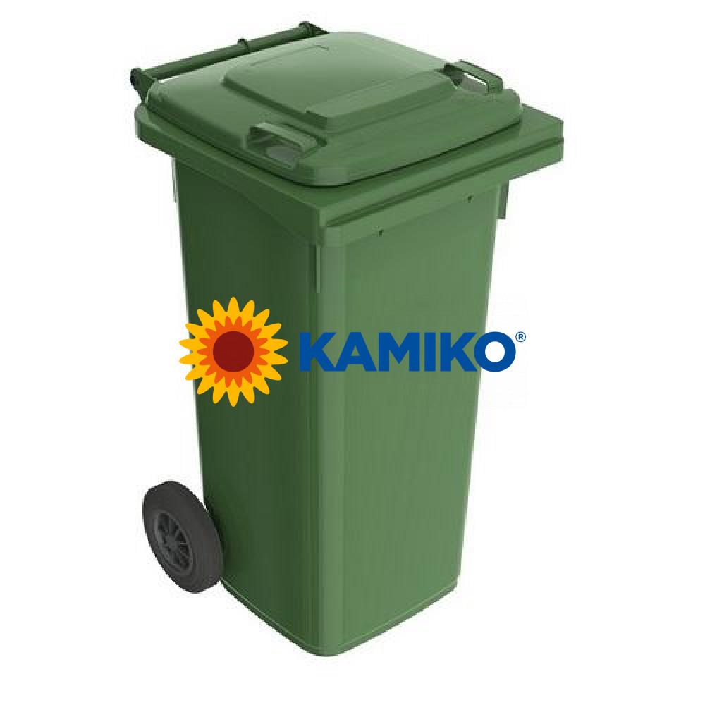 Plastová nádoba na odpad 120 l, zelená
