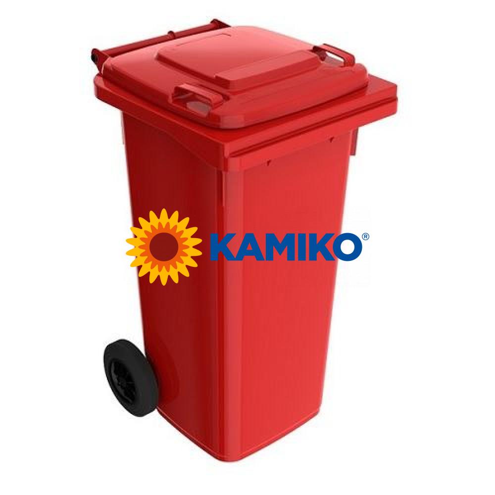 Plastová nádoba na odpad 120 l, červená