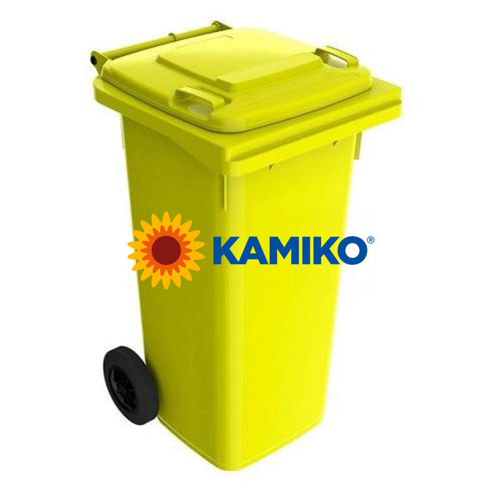 Plastová nádoba na odpad 120 l, žltá