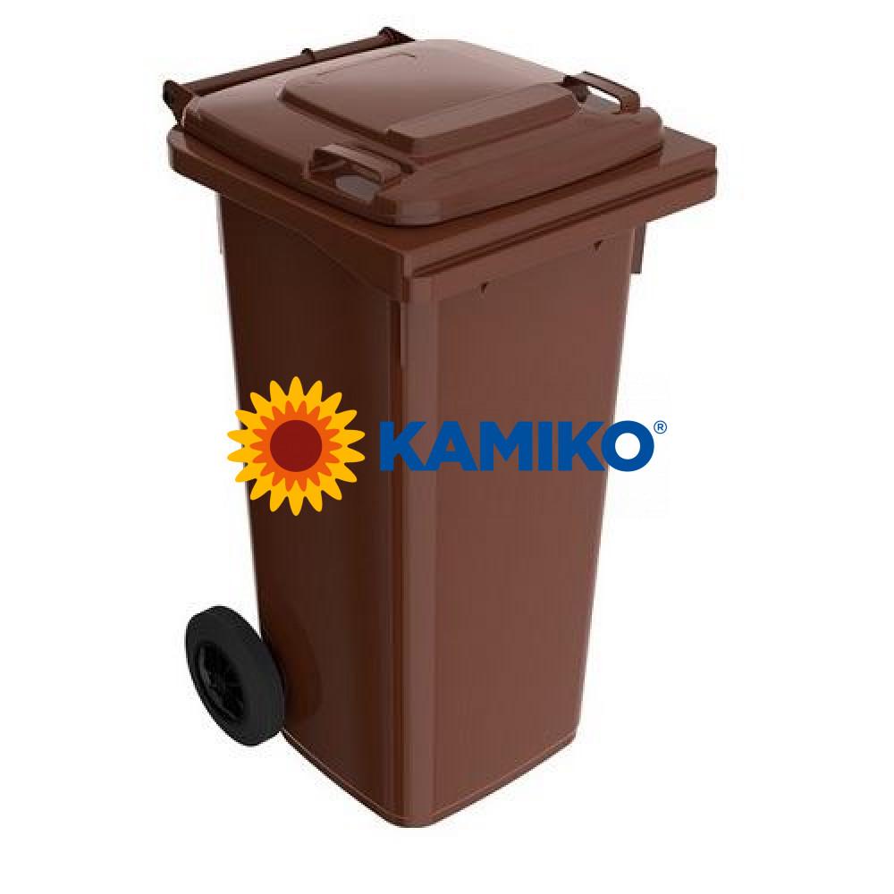 Plastová nádoba na odpad 120 l, hnedá