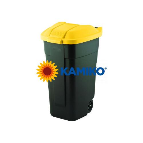 Curver nádoba na odpad nášľapná 110 l, žltá