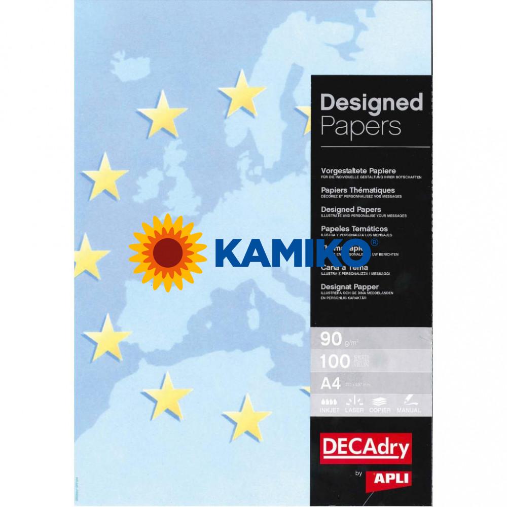 Ilustračný papier Europa modrá 90 g, 100 hárkov