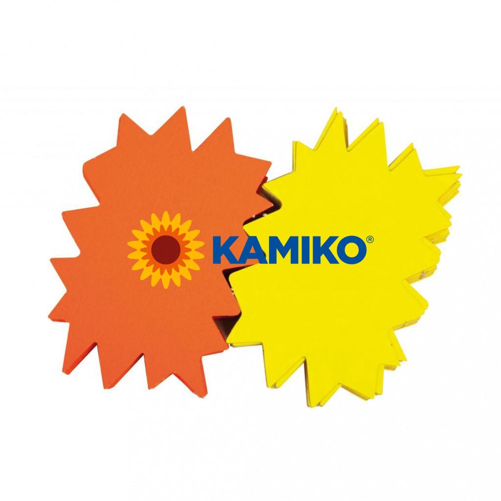 Popisovateľný farebný kartón ježko 12 x 16 cm APLI, mix žltá-oranžová