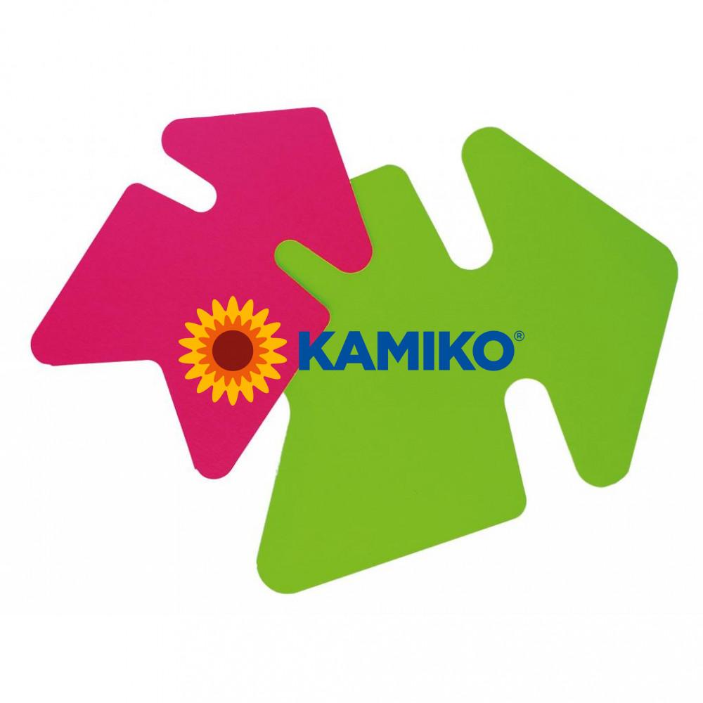 Popisovateľný farebný kartón šípka 24 x 32 cm APLI, mix ružová-zelená