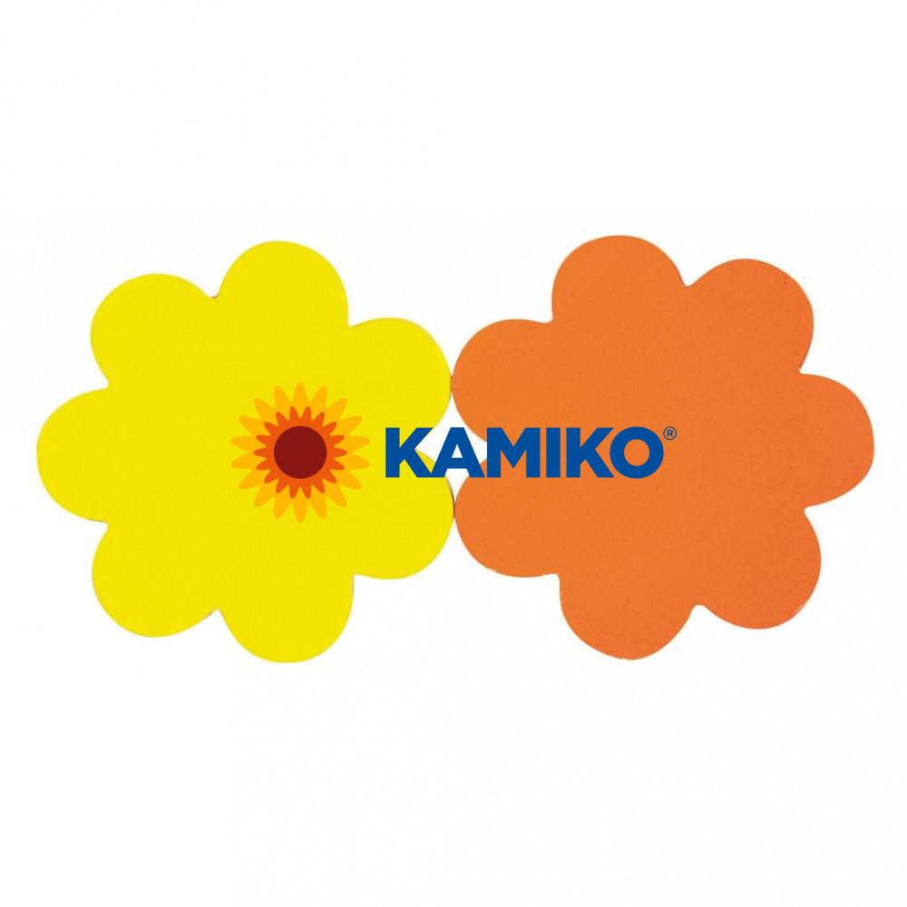 Popisovateľný farebný kartón kvet priemer 8 cm APLI, mix žltá-oranžová