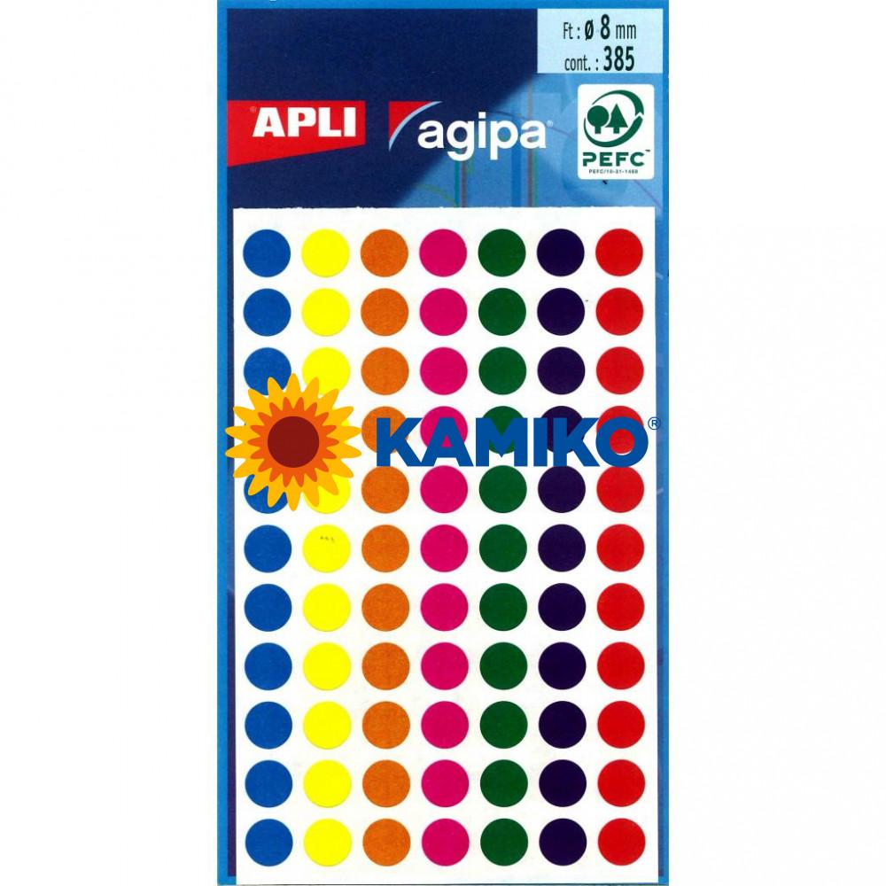 Etikety 8 mm mix farieb, maloobch.balenie