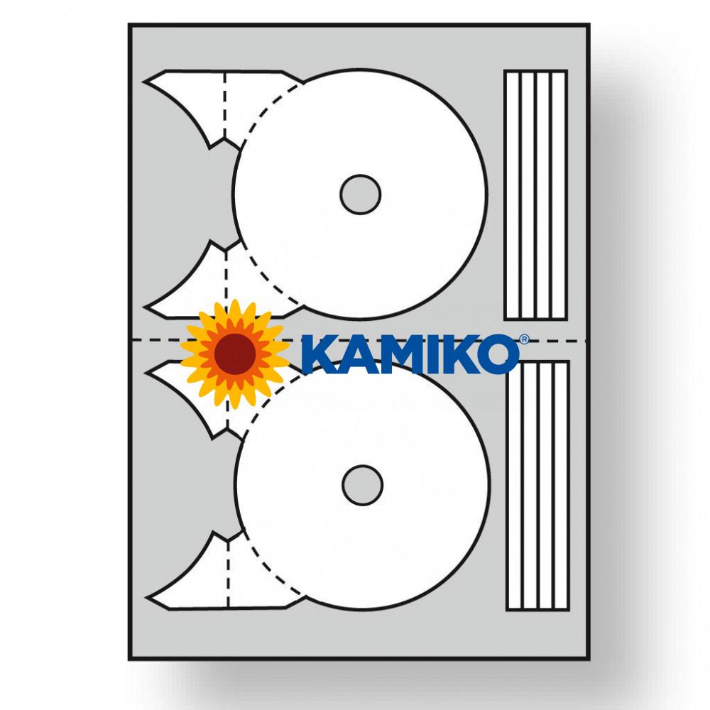 Agipa Etikety univerzálne na CD/DVD pr. 117,5  - 17 mm, 100 hárkov