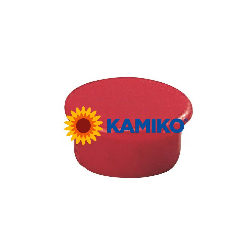 Magnet 13 mm červený, 10 ks