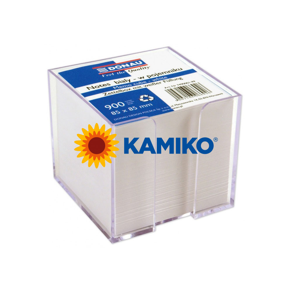 Kocka biela nelepená 83 x 83 x 75 mm v škatuľke