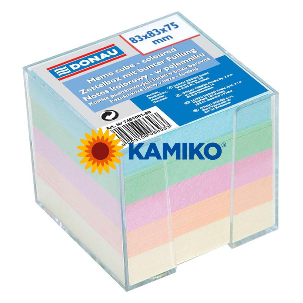 Kocka pastelová nelepená 83 x 83 x 75 mm v škatuľke