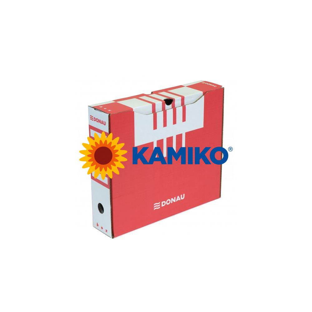 Archívny box DONAU 80 mm červený