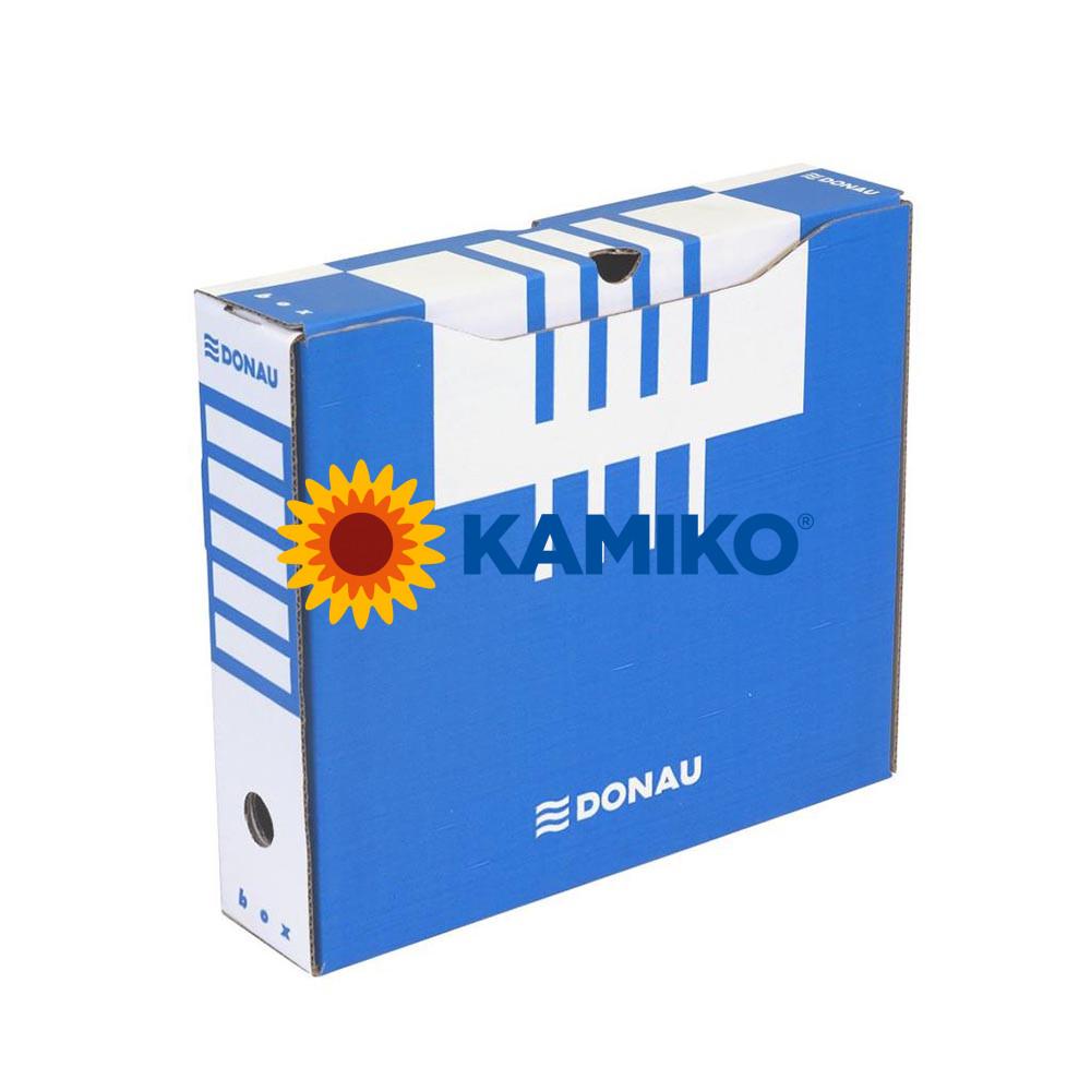 Archívny box DONAU 80 mm modrý